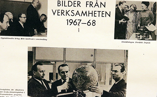 Collage av bilder från 1967-68.
